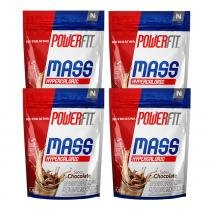 Kit 4 Mass 8500 - 1,5Kg - Powerfit - Nutrilatina - Nutrilatina