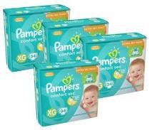 Kit 4 Pcts Pampers ConfortSec - Tam. XG - 136 Unds -