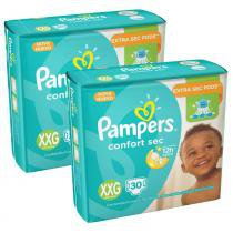 Kit 4 Pcts Pampers ConfortSec - Tam. XXG - 120 Unds -
