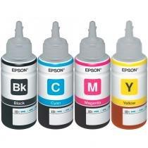 Kit 4 Tintas Epson L395  T664120  T664220  T664320  T664420 Original -