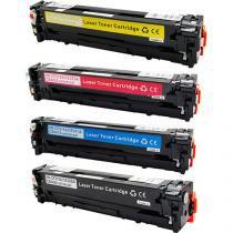 Kit 4 Toner HP CP1215  CP1515  CP1518  541A  542A CMYK Compatível - GreenBelt