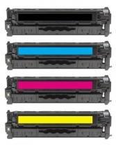Kit 4 Toner HP CP2025  CC530A  CC531A  CC532A CMYK Compatível - GreenBelt