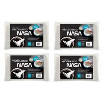 Kit 4 Travesseiros NASA Visco p/fronhas 4024 50x70 - Fibrasca -