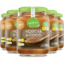 Kit 5 açúcar de coco natural qualicôco 280g -