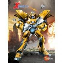 Kit 5 Caderno X-Robots Brochura 96 Folhas Capa Dura - 121885 - Maxima cadernos