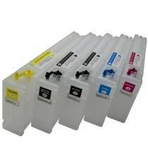 Kit 5 cartuchos recarregáveis t3070, t3270, t5070, t5270, t7070 e t7270 - Visutec