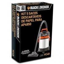 KIT 5 SACOS DESCARTÁVEIS DE PAPEL PARA ASPIRADOR AP4850 - BLACK+DECKER
