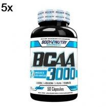 Kit 5X BCAA 3000 - 50 Cápsulas - Body Nutry -