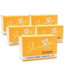 Kit 5x Chá de Jasmin - Jasmine Tea 40g (20 Sachês de 2g) Importado Fujian -