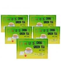 Kit 5x Chá Verde - Green Tea 40g (20 Sachês de 2g) Importado Fujian - 20 sachês de 2g -