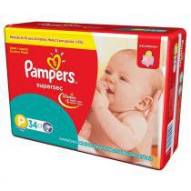 Kit - 6 Pacotes - Pampers Supersec P - 204 Unid. -