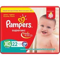 Kit - 6 Pacotes - Pampers Supersec XG - 132 Unid. -