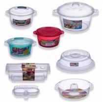 Kit 7 Panelas + Tampa Para Microondas Cozinha S/ Óleo - Nitron