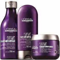 Kit Absolut Control LOréal Professionnel Shampoo 250ml, Condicionador 150ml e Máscara 200g - Loreal