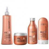 Kit Absolut Repair LOréal Professionnel Shampoo 250ml, Máscara 200g, Condicionador e Selador 150ml - Loreal