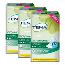 Kit absorvente tena lady discreet normal 24 unidades -