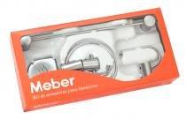 Kit acessórios para banheiro Domus 500 C 40 acabamento cromado Meber Metais - Meber