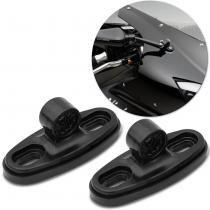 Kit Adaptador de Retrovisores para Motos Carenadas Universal Preto em Alumínio - St