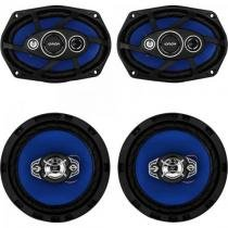 "Kit ALTO Falante Quadriaxial 6X9"" + 6"" 55W RMS 4 OHMS Orion -"