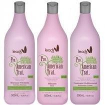 Kit American Trat Leads Care Shampoo, Máscara e Finalizador 500ml - Leads Care