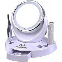 Kit Ana Hickmann Face Care 6 em 1 - Espelhos com Aumento e Luz LED, Pinça LED, Modelador de Cílios c - Relaxmedic