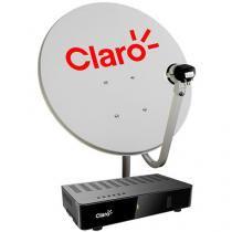Kit Antena Parabólica Digital Claro TV Livre Externa Monoponto