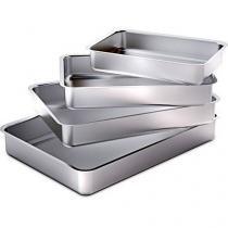 Kit Assadeira Forma Retangular de Alumínio Baixa 4 Peças - Marlux