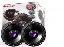 Kit auto falante pioneer triaxial 6 polegadas 100w rms  par  sandeiro  clio -