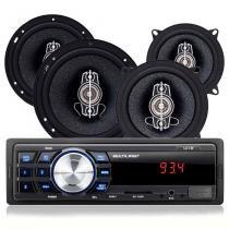 Kit Automotivo Multilaser Au954 Mp3 Player USB Com 4 Alto Falantes de 5 e 6 Polegadas -