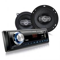 Kit Automotivo Multilaser- Mp3 + 2 Alto Falantes 6 + 2 Alto Falante 5 - AU951 - Multilaser