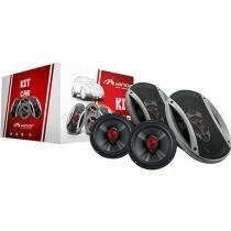 "Kit Automotivo Universal 6"" e 6x9"" 340W 4 Ohms 30945 - Hinor - Hinor"