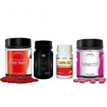 Kit Aux. Emagrecimento Picolinato De Cromo Golden + Goji Berry Nitech + Collagen Vit C Nitech + Multivitamínico Nitech - Nitech nutrition