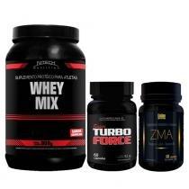 Kit Aux. Ganho De Massa Whey Mix Nitech Chocolate + Zma Golden + Super Turbo Force Intlab - Nitech Nutrition