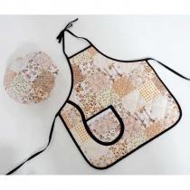 Kit Avental Infantil + Touquinha Mestre Cuca - Patchwork - Recanto da costura