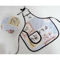 Kit Avental Infantil + Touquinha Mestre Cuca - Vintage - Recanto da costura