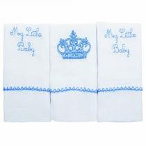 Kit Babete Baby Joy Classic My Little Baby Azul 3 un - Incomfral - Incomfral