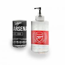 Kit Banheiro Saboneteira + Porta Escovas Porcelana Arsenal Gunners 400ml (BD01) - BD Net Imports