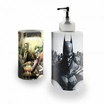 Kit Banheiro Saboneteira + Porta Escovas Porcelana Batman 400ml (BD01) - BD Net Imports