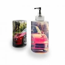 Kit Banheiro Saboneteira + Porta Escovas Porcelana Carro Acura 400ml (BD01) - BD Net Imports