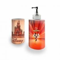 Kit Banheiro Saboneteira + Porta Escovas Porcelana Disney Mickey 400ml (BD01) - BD Net Imports