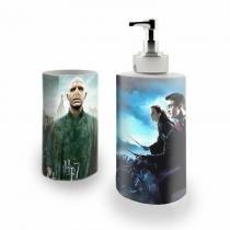 Kit Banheiro Saboneteira + Porta Escovas Porcelana Harry Potter 400ml (BD02) - Skin t18