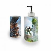 Kit Banheiro Saboneteira + Porta Escovas Porcelana Horizon Zero Dawn 400ml (BD01) - BD Net Imports