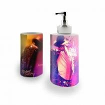 Kit Banheiro Saboneteira + Porta Escovas Porcelana Michael Jackson 400ml (BD01) - BD Net Imports