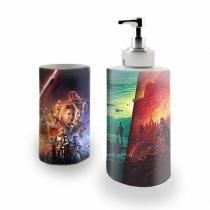 Kit Banheiro Saboneteira + Porta Escovas Porcelana Star Wars 400ml (BD01) - BD Net Imports
