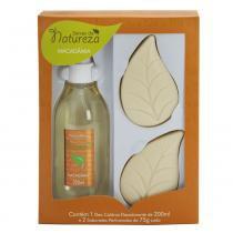 Kit banho seivas da natureza macadâmia colônia desodorante 200ml + 2 sabonetes perfumados 75g -