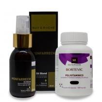Kit barba+saúde (óleo capilar e polivitamina 60 cps) - Feminino - Transparente - 80ml - Nuv  ruche