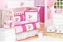 Kit berçobaby 8 pcs urso c/coração rosa batistela - Batistela baby