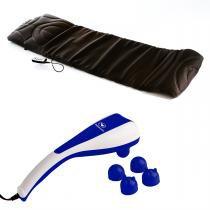 Kit Best Massage Esteira Vibratória Light Mat + Massageador Duplo Double Massage - RelaxMedic - RelaxMedic