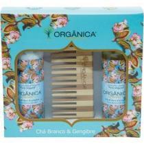 Kit Bi Set Orgânica Chá Branco e Gengibre Hidratante + Sabonete Líquido + Pente de Bambu - ORGÂNICA