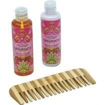 Kit Bi Set Orgânica Framboesa e Orquídea Hidratante + Sabonete Líquido + Pente de Bambu - ORGÂNICA